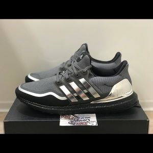 NEW Adidas Ultra Boost Metallic Silver Black Yeezy